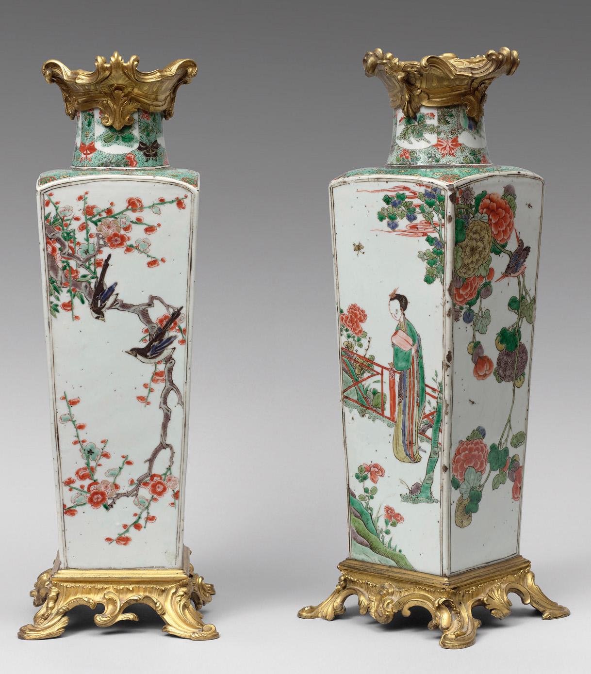 porcelaine de chine, vases, vichot